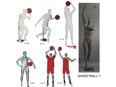 Fiberglass mannequin - Basketball player