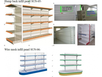 Gondola shelving-light duty shelving